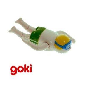 Juguete mecánico a cuerda GOKI NADADOR amarillo Colección MUÑECOS ACUÁTICOS para baño Niños + 4 años