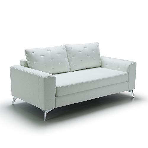 Marchio Amazon -Movian, divano 2 posti modello Jazz, colore bianco