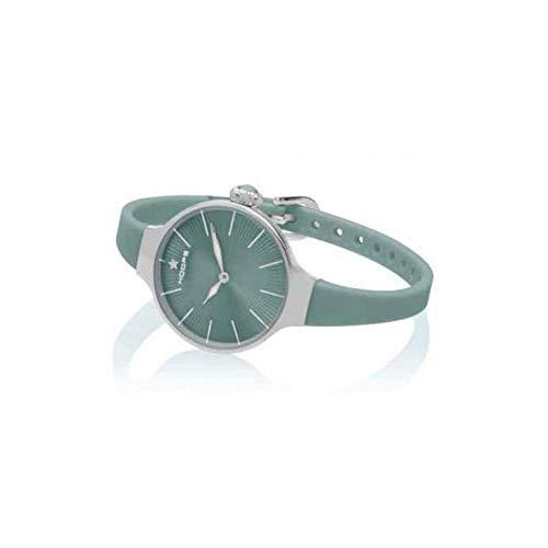 Orologio Hoops Nouveau Cherie 2583L-S11 Automatico Acciaio Quandrante Verde Cinturino Gomma