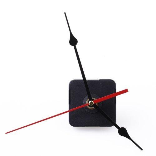 Gleader Movimento Meccanismo dell'orologio Nero Ora Minuti secondo lancetta rossa fai da te strumento set
