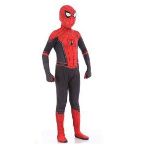 Spiderman NiñO Adulto Ropa Cosplay,Halloween Navidad Celebracion Vestido Superhéroe Traje Fiesta De Baile Medias,Kids-M