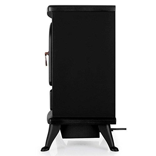 Klarstein St. Moritz - Chimenea Vintage con calefactor eléctrico, color Negro