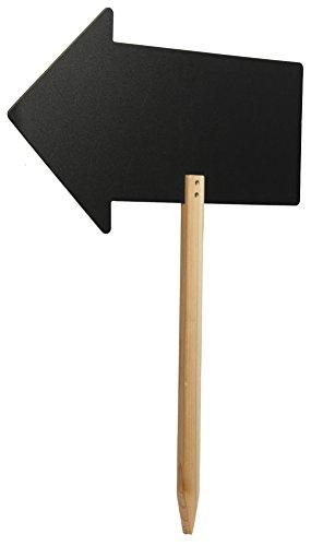 Securit-Lavagna con freccia, con supporto in legno con decori a punta e un pennarello a gesso...