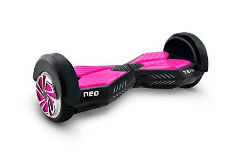 Itekk Hoverboard 8'' Neo con Bluetooth, Assicurazione AXA 'Tutela Famiglia' inclusa, Rosa Fluo