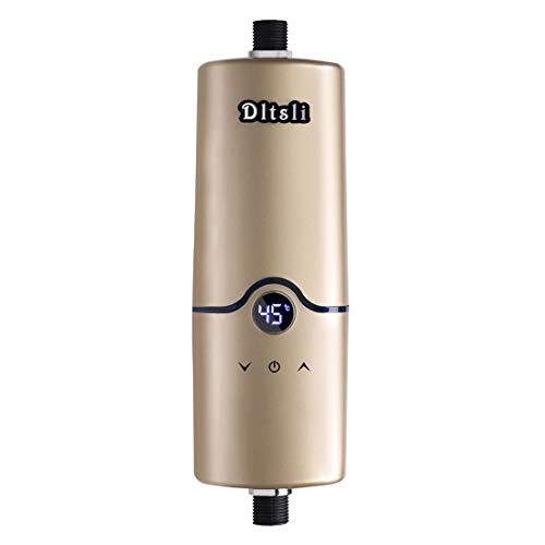 240V Sofortiger elektrischer heißer Tankless Warmwasserbereiter 4 Energien-Niveaus 5.5KW 5KW 4.5KW 3.5KW für Badezimmer-Küche-goldene Farbe