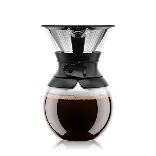 Bodum 11571-01S pour over Kaffeebereiter (Permanentfilter, Spülmaschinengeeignet, 1,0 liters) schwarz