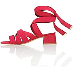 FIND Molly Sandales Femme, Rouge (Red), 39 EU