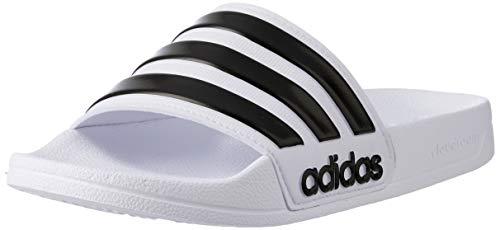 adidas Adilette Shower, Scarpe da Spiaggia e Piscina Uomo, Bianco (Ftwwht/Cblack/Ftwwht...