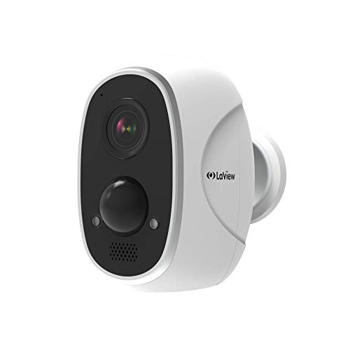 LaView ONE Link Wireless Outdoor Camera, Rechargeable Battery Powered Security Cameras Two Way Audio, PIR Thermal Detection, Compatible with Amazon Alexa,Weatherproof Wireless Home Security Cameras