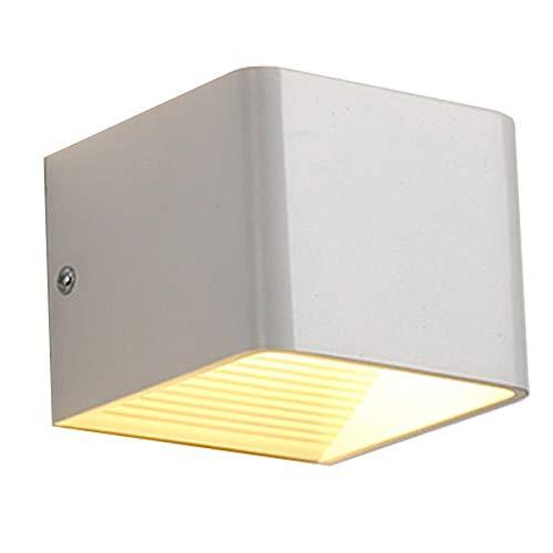 Wandlampe Wandleuchte Wandbeleuchtung Lampe Leuchte Up-Down Design Strahler Warmweiß Flur Treppenhaus Aluminium Cube Rechteck 7W 3000K für Innen LED YH1