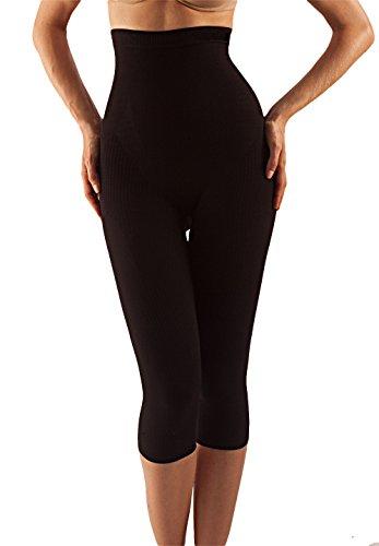 Farmacell 323 (Nero, S/M) Pantaloncino lungo modellante e massaggiante effetto pushup e...