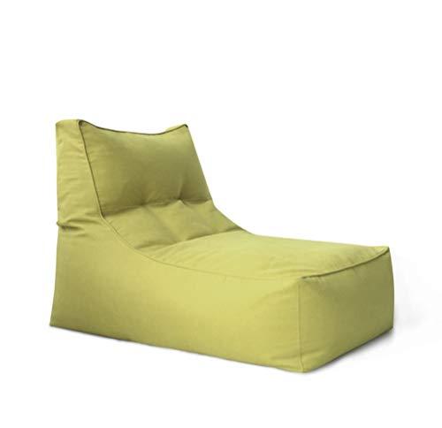 Classico Poltrona A Sacco E Poggiapiedi Divano A Sacco Semplice (Color : Jasper, Size : No footstools)