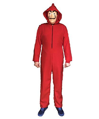 LBA Disfraz Inspirado en una Famosa Serie de televisión. No es el Original. Compuesto de Mono con Capucha y máscara. (Talla XL/52)