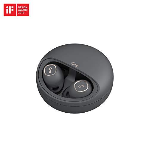 AUKEY Écouteurs True Wireless, 7h d'écoute par Charge, Son de Qualité Supérieure, Ajustement Précis, Contrôle Tactile, Chargement sans Fil Qi, Etanchéité IPX5, Bluetooth 5