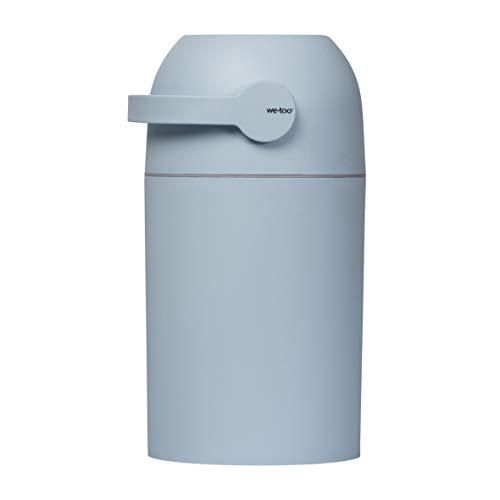Kidsmill Windeleimer we-too Nordvik | Diaper Keeper mit Geruchsstop-System | Diaper für bis zu 25 Windeln | keine extra Nachfüllkassetten notwendig | inkl. Baumwoll-Windel, Design:blau