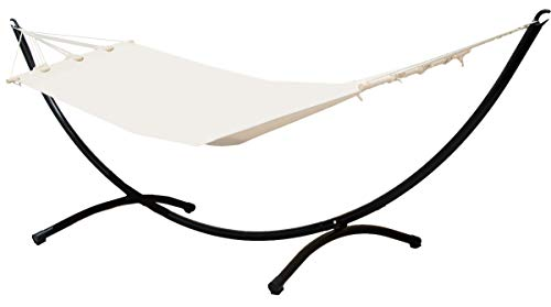 Struttura Per Amaca Acciaio.Eyepower 11367 Amaca Da 190 X 80 Cm Con Sostegno A Semiluna In