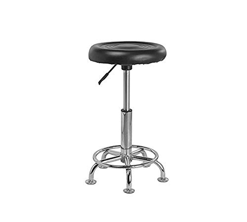 Lakdi-The Furniture Co. Premium Quality Well Medical/Doctor Mobile Doctor's Stools Spa Ergonomic Drafting with Wheels & Office Student Computer PU Leather in Black Metal Bar Stool Chair MFN 132112_4