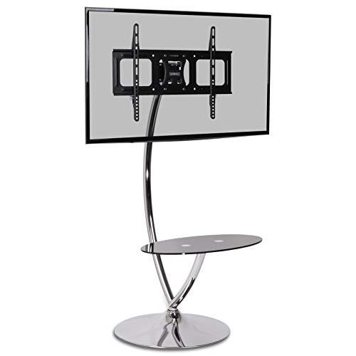 Duronic TVS3F1 - Supporto TV/Monitor (30'- 50') inclinabile in vetro dal design elegante. LCD -...