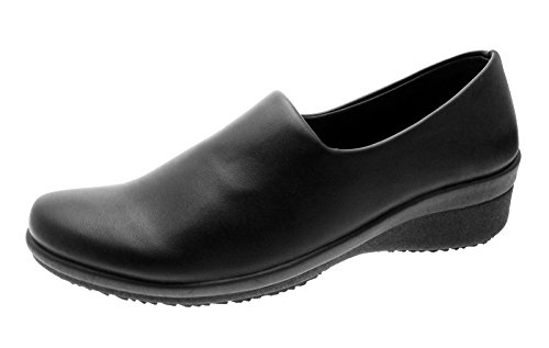 platform leather stq comfort nurse fzytwsazs loafers slip nursing shoes women comforter lightweight work on