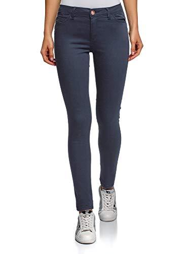 oodji Ultra Damen Jeans Slim-Fit Basic, Blau, 26W / 32L (DE34 = EU36 =...
