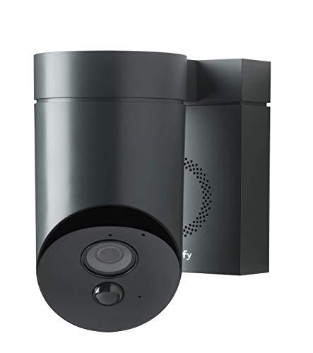 31l%2B6FsHDrL [Bon Plan Domotique] Somfy 2401563 - Outdoor Camera   Caméra de surveillance extérieure Wifi   1080p Full HD   Sirène 110 dB   3 branchements possibles