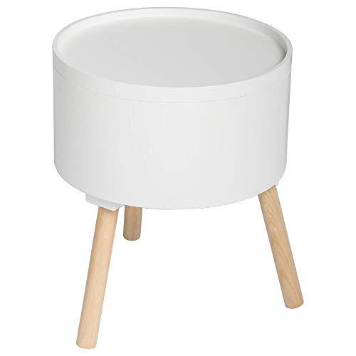 Atmosphera 2 in 1 Tavolino + Contenitore - Stile scandinavo - Colore BIANCO