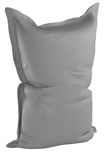 Lumaland Poltrona Sacco Pouf Puff XXL 380l Imbottitura innovativa 140 x 180 cm per Interni ed Esterni Colore Grigio Ferro