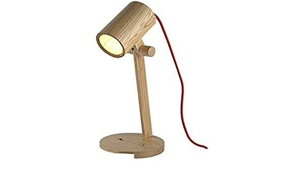 Aaxx Bedroom Table Lamp Fun Desk Lamps With Wooden Base Unique Table Lamps For Kids Room Living Room Bedroom Office Reading Room Amazon Co Uk Kitchen Home