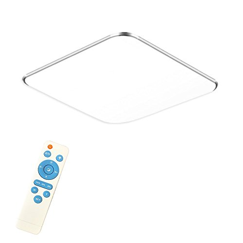 24W Dimmbar LED Modern Deckenlampe Ultraslim Deckenleuchte Schlafzimmer Küche Flur Wohnzimmer Lampe Wandleuchte Energie Sparen Licht Silber (24W Silber Dimmbar)