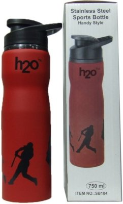 H2O SB 104 Stainless-Steel Water Bottle, 750ml (Red)