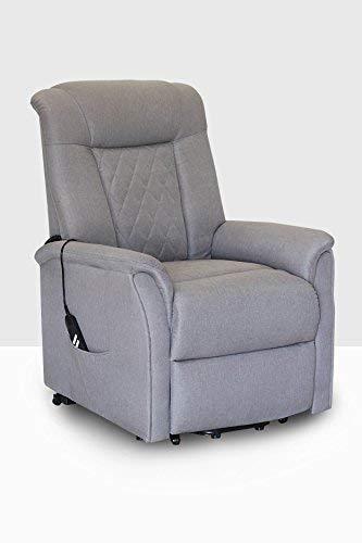 Poltrona relax elettrica Michelle con sistema alzapersona/reclinabile in tessuto tortora (doppio motore)