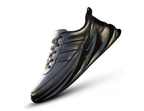 Inklenzo Men's Casual Shoes Shark Black Color Walking Running Gymwear Sports Sneakers for Daily use