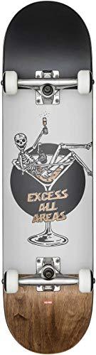 Globe G1Excess Skateboard/Street Board, White/Brown, 8.0Fu