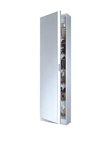 13Casa - Zola A6 - Scarpiera. Dim: 50x20x180 h cm. Col: Bianco. Mat: Melamina.