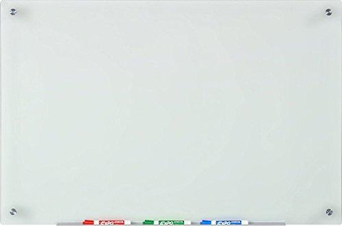 Vetro Lavagna Smerigliato, Cancellabile a Secco - 60 x 90 cm - Include Vassoio Portapenne in...