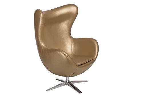 ElleDesign Poltrona reclinabile Similpelle Oro Chair Basculante Dorata