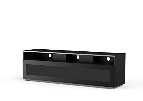 Meliconi, Mobile per TV linea MyTV stand 16040H glass Black, 160x 40 cm, mezza anta in vetro IR...