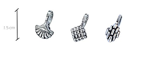 """BEATNIK""""Nose Jewellery"""" Antique Oxidized Silver Tribal Design Stylish Trendy Nose Ring/Nose Stud Nose Clip On Nose Pin Combo Set for Women and Girls(Set of 3) 2"""