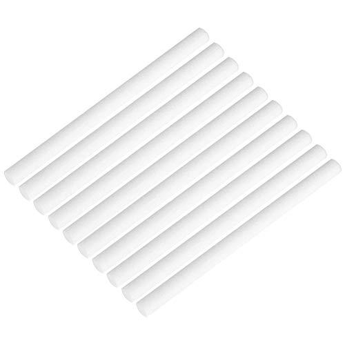 Hztyyier 10 Stücke USB Luftbefeuchter Diffusor Ersatz Dochte Baumwollfilter Ersatz Sauber Mini Tragbare Schwämme Nachfüllstift für Inhalator