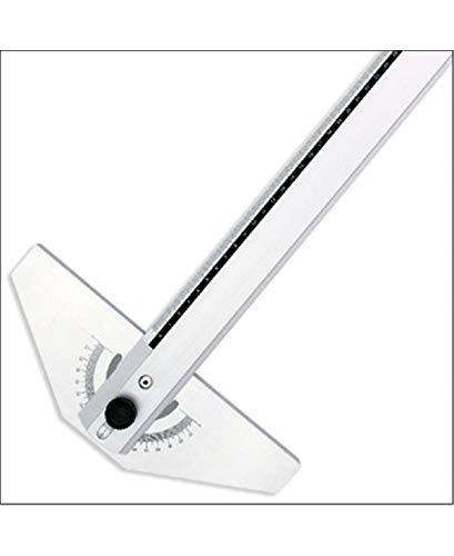 Fara Riga T Alluminio Cm.80con goniometro Bianco/Nero