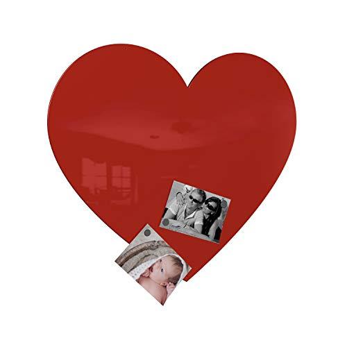 Colours-Manufaktur Bacheca magnetica a forma di cuore, misura XXL, finitura lucida, diversi colori,...