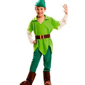 DISBACANAL Disfraz de Peter Pan Infantil - 5-6 año