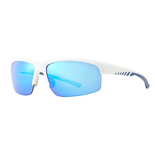 Avoalre Gafas de Sol Polarizadas Deportivas Azul Gafas para Hombre y Mujer TR90 irrompible 100% Anti UVA y UVB, Super Cómodo para Ciclismo Pesca Correr Motocicleta Escalada etc.