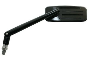 CNC-Spiegel ACTION, schwarz, verstellbarer Stiel 12