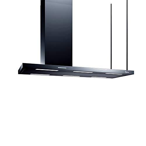 Baraldi ELEA Isola Nera 146 cm-aspirante o filtrante Cappa, Acciaio, 146