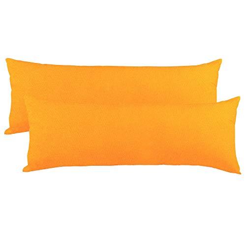CelinaTex BeNature Federa Set da 2 Cerniera Cotone 40 x 120 cm Arancione
