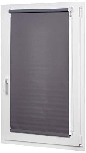 AmazonBasics - Verdunkelungsrollo mit farbiger Beschichtung, 96 x 150 cm, Dunkelgrau