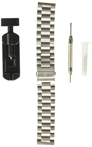 Fullmosa Cinturino Orologio con Sgancio Rapido, Cinturino in Acciaio Inossidabile per Uomo e Donna 14/16/18/20/22/24mm,20mm Argento
