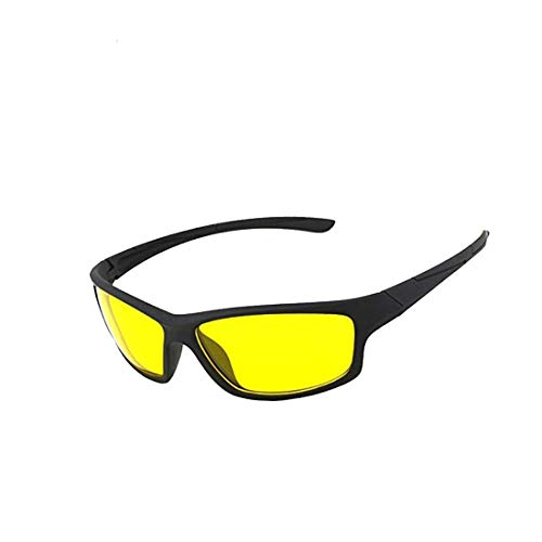 Wrath Day and HD Night Vision Anti-Glare UV Protected Unisex Sunglass for Car Drivers (NV123, 45)