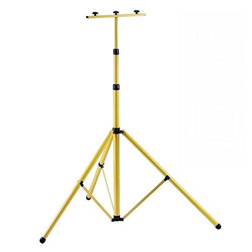 Foco para obras MCTECH de 10 W /20 W/ 30 W/50 W amarillo, batería recargable LED, de luz caliente/fría IP65, foco con trípode telescópico